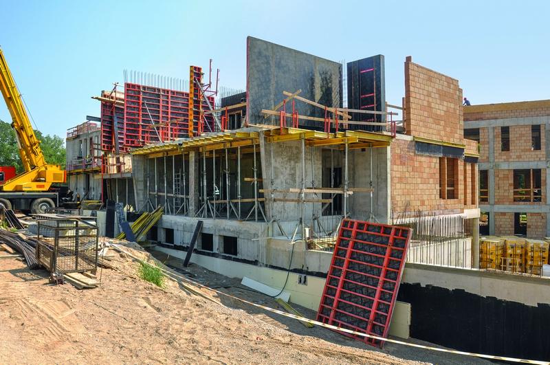 Suha gradnja - Izgradnja objekata